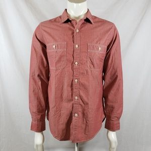 J. Crew Chambray long sleeve button front sz M